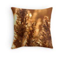 Autumn Reeds Throw Pillow