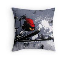 Power skier Throw Pillow