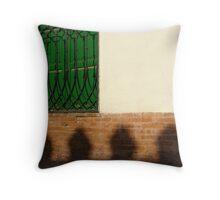 green window Throw Pillow