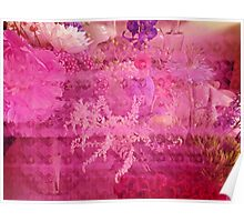 Breast Cancer Flowers Poster