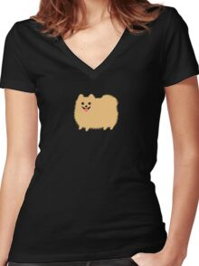 Pomeranian Women's Fitted V-Neck T-Shirt