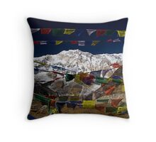 Annapurna Prayer Flags Throw Pillow