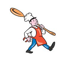 Chef Cook Marching Spoon Cartoon by patrimonio