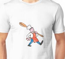 Chef Cook Marching Spoon Cartoon Unisex T-Shirt