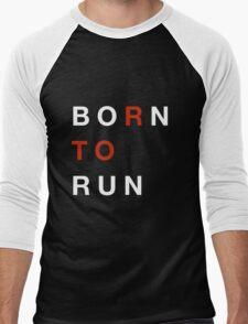 Born To Run Men's Baseball ¾ T-Shirt
