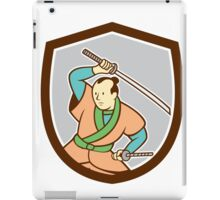Samurai Warrior Katana Sword Shield Cartoon iPad Case/Skin