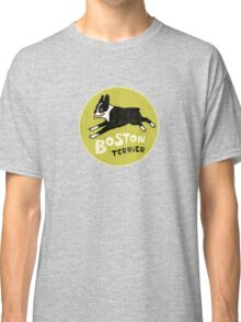Vintage Style Boston Terrier Classic T-Shirt