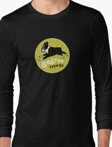 Vintage Style Boston Terrier Long Sleeve T-Shirt