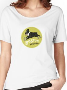 Vintage Style Boston Terrier Women's Relaxed Fit T-Shirt