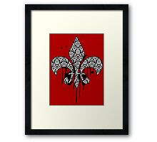 Damask Drips Framed Print