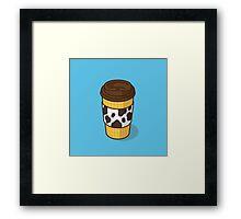 Sheriff Woody's Coffee-to-GO! Framed Print