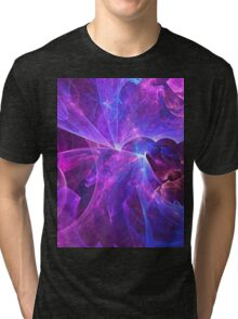 The Ether Of Spiritual Energy Among Beings in Love and Enlightenment | Fractal Starscape Tri-blend T-Shirt