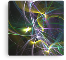 The Curves of Symbiotic Frequencies Traveling To Their Respective Harmonic Destinations, Only Compressed Into Lines | Fractal Starscape Canvas Print