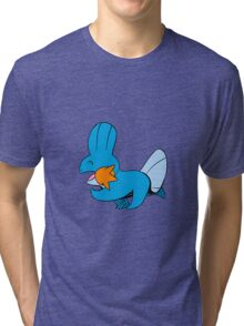 Cute Walking Mudkips Tri-blend T-Shirt