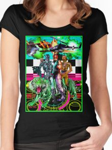 Robots Ride A Tiger Women's Fitted Scoop T-Shirt