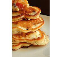 Blueberry Nectarine Pancakes Photographic Print
