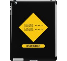 Sign Triangular Distribution Statistics iPad Case/Skin