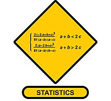 Sign Triangular Distribution Statistics Photographic Print