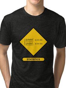 Sign Triangular Distribution Statistics Tri-blend T-Shirt