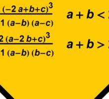 Sign Triangular Distribution Statistics Sticker