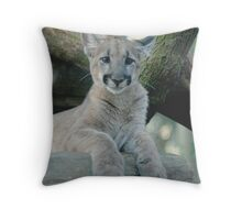 BABY PANTHER LOOKING Throw Pillow