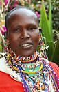 Stately Maasai (or Masai) Woman, East Africa   by Carole-Anne