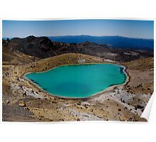 Pools above the Red Rock crater  Poster