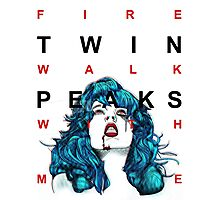 fire walk with me - tv eye Photographic Print