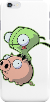 Gir riding his Pig by NoodlesDoodles