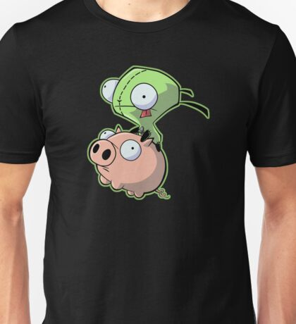 Gir riding his Pig Unisex T-Shirt