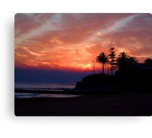 Lights To The Point -Collaroy - Sydney Beaches, Sydney Australia Canvas Print