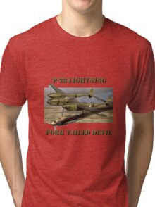 P-38 Forked Tail Devil Tri-blend T-Shirt