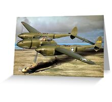 P-38 Forked Tail Devil Greeting Card
