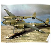 P-38 Forked Tail Devil Poster