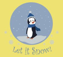 Let It Snow! (Penguin) Baby Tee