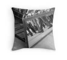 Mirrored Feet Throw Pillow