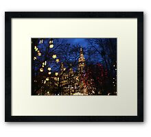 Rathaus Advent Dream Framed Print