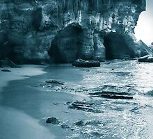 First Cave, Caves Beach, New South Wales. by Adam Pearson
