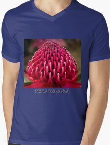 NSW Waratah Mens V-Neck T-Shirt