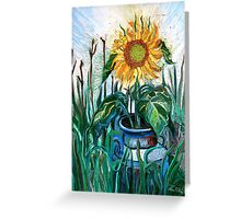 August Sunflower Greeting Card