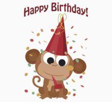 Happy Birthday! Confetti Monkey Kids Clothes