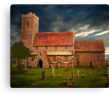 Stormy Church  Canvas Print
