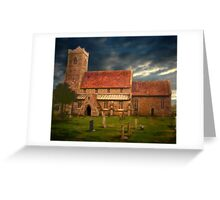 Stormy Church  Greeting Card