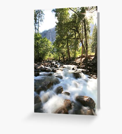 Streaming sunlight Greeting Card