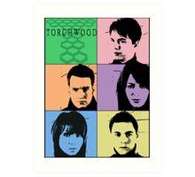 Torchwood Pop Art Art Print