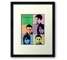 Torchwood Pop Art Framed Print