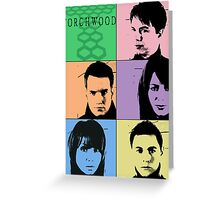 Torchwood Pop Art Greeting Card