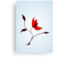 Strange Red Flower Canvas Print