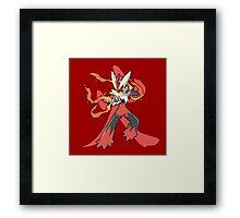 Blaziken With Fire Kanji Framed Print