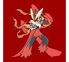 Blaziken With Fire Kanji Photographic Print
